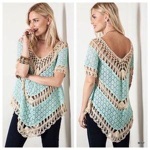 Buckle Umgee crochet blouse